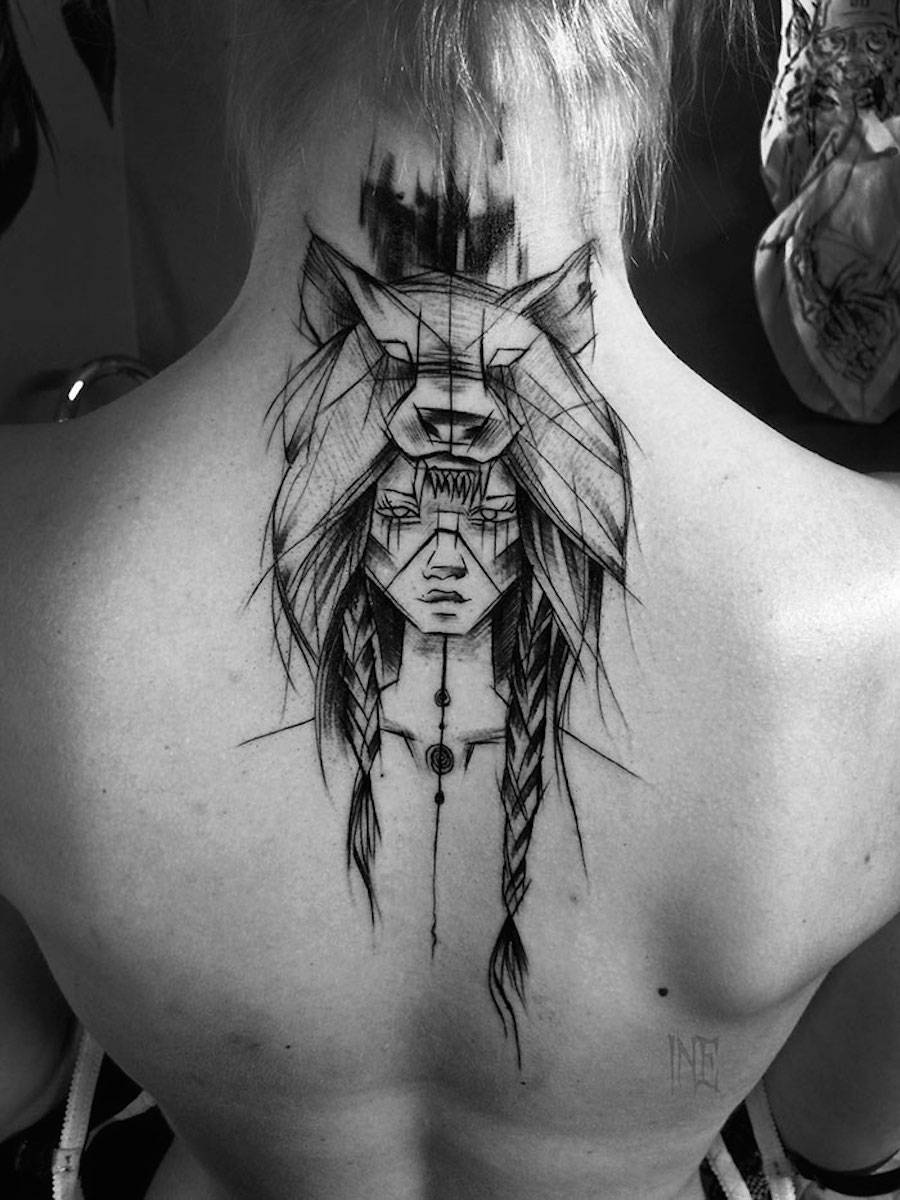 impressive-black-and-white-sketch-tattoos-4-900x1200
