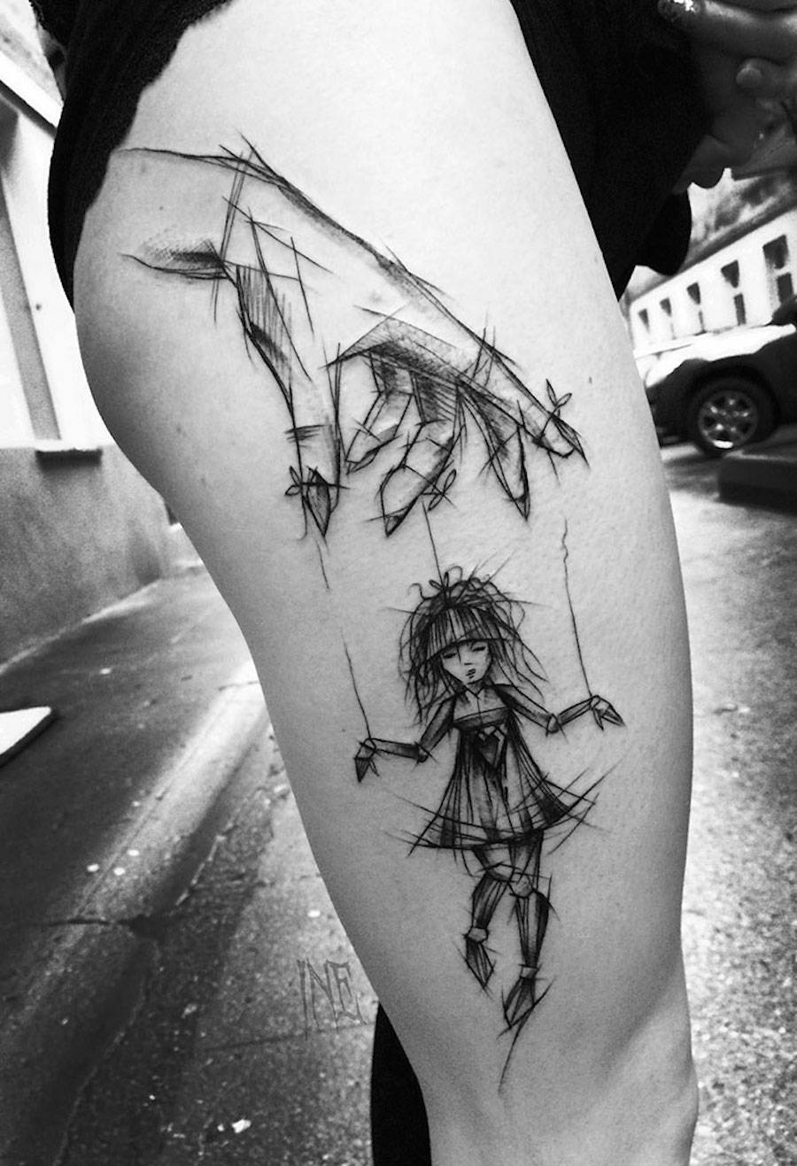 impressive-black-and-white-sketch-tattoos-5-900x1317